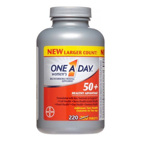 One A Day Women's 50+ Healthy Advantage Multivitamin Tablets, 220 Ct
