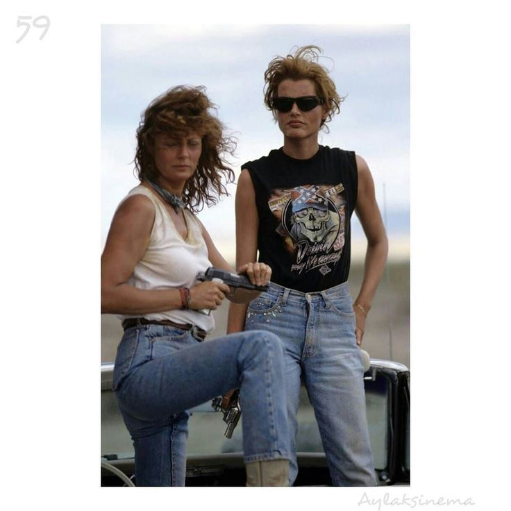 Thelma & Louise (1991) MGM/Courtesy Neal Peters Collection Director:Ridley Scott Cast:SusanSarandonGeenaDavis Brad Pitt Domestic lifetime gross(adjusted for inflation 2014): $85765500 Famous quote:In the future when a woman is crying like that she isn't having any fun. Louise Sawyer I thought of it as a cowboy movie with women instead of guys saysSarandonof her role inRidley Scotts 1991 groundbreaking female-bonding road movie. It was pretty shocking that people were so threatened by it…