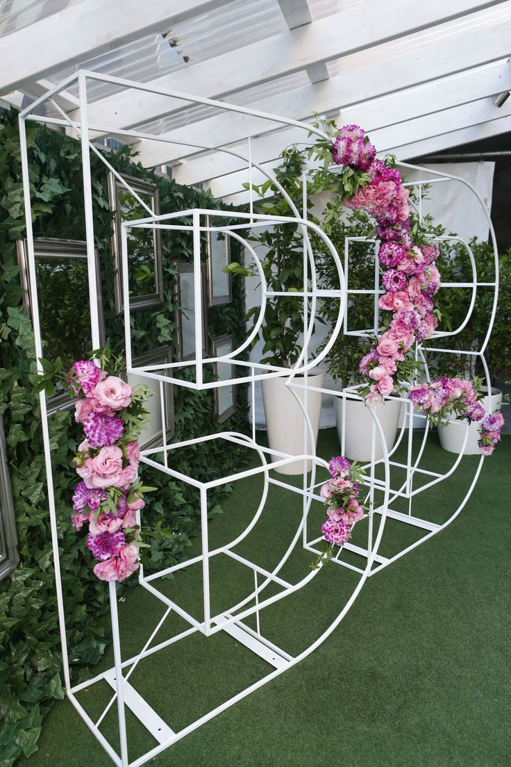 Wire letter flowers | By Flower Jar for Myer events