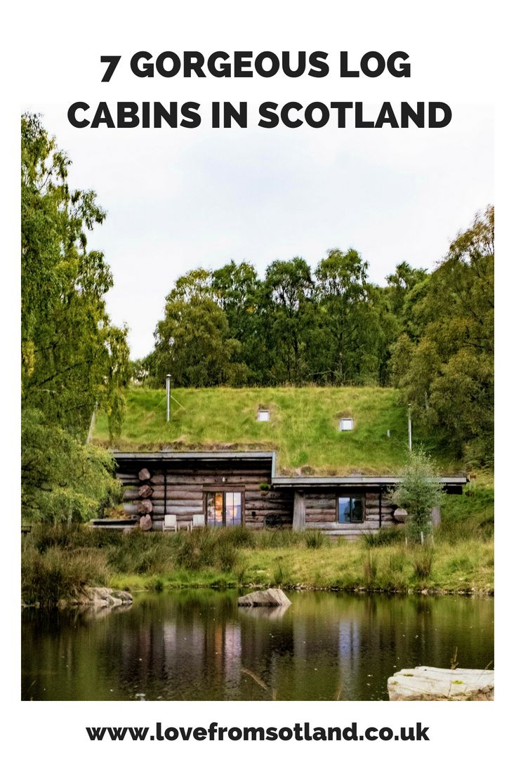 Gorgeous log cabins in Scotland