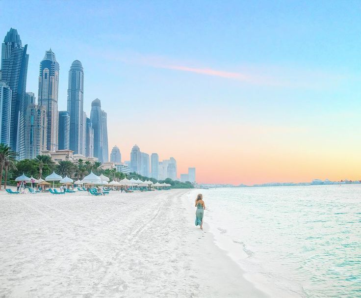 Baby powder sand by the big city  You can ride camels along here during sunset too  #dubaibeach