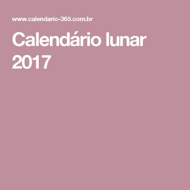 Calendário lunar 2017