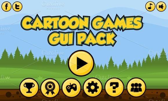 Cartoon Game GUI Pack (£9)