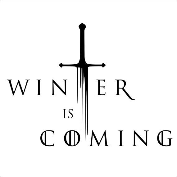 Winter Is Coming Game Of Thrones Vinyl Decal 2 by TheStickerFairy, $6.00