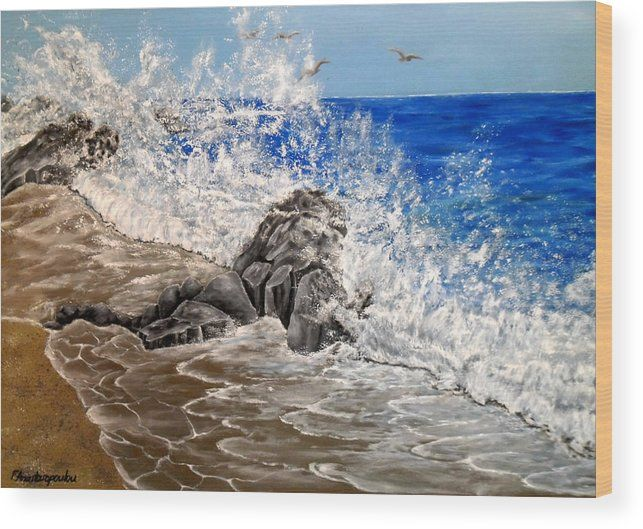 Wood Print,  coastal,scene,seascape,ocean,waves,nature,water,sandy,shore,beach,rock,crashing,breaking,splashing,rough,spray,lace,blue,impressive,scene,image,beautiful,fine,oil,painting,contemporary,scenic,modern,virtual,deviant,wall,art,awesome,cool,artistic,artwork,for,sale,home,office,decor,decoration,decorative,items,,ideas