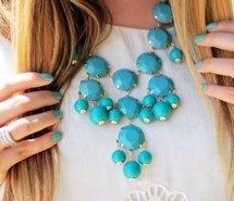 betsey johnson, bling, chanel, colar azul, fashion (Full Size)
