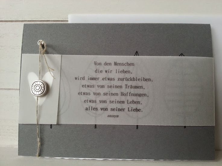 Trauer & Beileid - Trauerkarte - Etwas bleibt immer zurück - ein Designerstück von von-Hand-von-Herzen-von-mir bei DaWanda