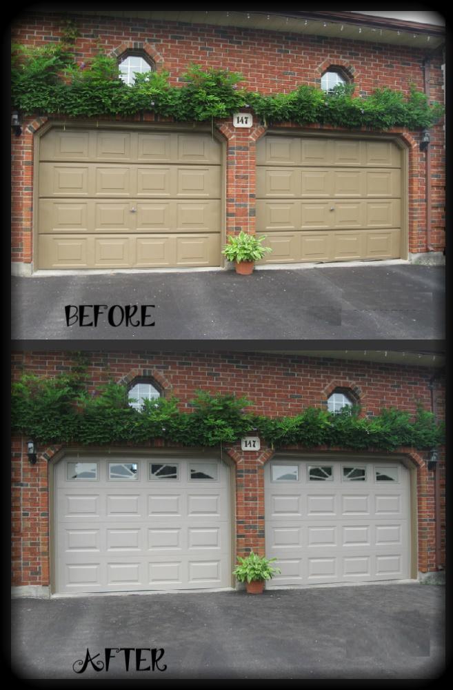Clopay Classic Steel Garage Doors In Sandtone With Sunset Windows.  Www.clopaydoor.com