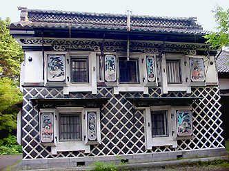 旅の途中で見た鏝絵   新潟県長岡市サフラン酒造・吉澤家