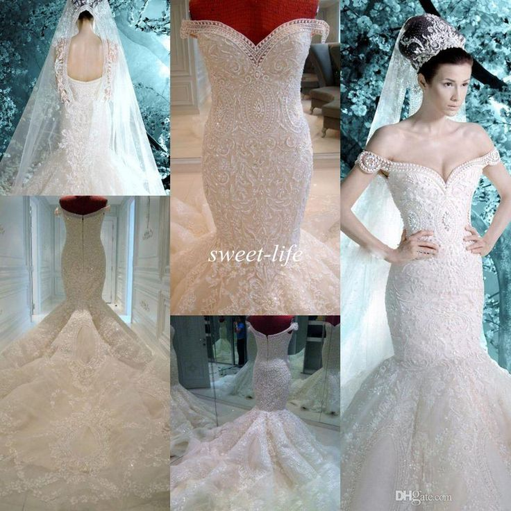 Michael Cinco Wedding Dresses 2015 Vintage Pearls Lace Appliques Off the Shoulder Sheer Backless Luxury Mermaid Wedding Dress Bridal Gowns Wedding Dresses Plus Size Vestidos De Novia Online with $382.0/Piece on Sweet-life's Store | DHgate.com