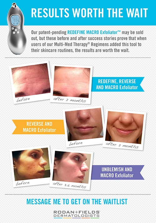 Call, text or email me for details! It truly is as powerful as a visit to the dermatologist!