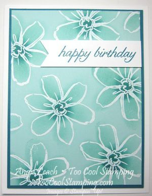 handcrafted card ...  Garden in Bloom ...  Resist Technique ... monochromatic ... luv the shading done with one color of ink ... Stampin' Up!