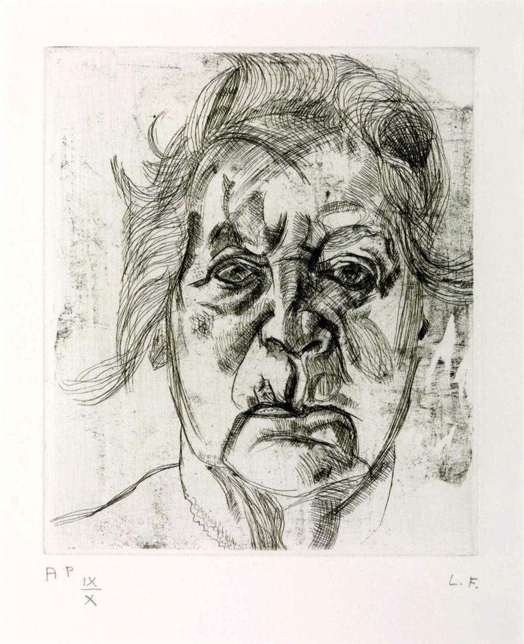 Lucian Freud, The Painter's Mother, 1982, Etching on paper, 17,8 x 15,2 cm, Tate Modern, London