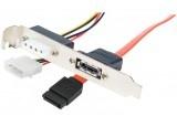 Cable slot 1 port eSATA avec prise alimentation MOLEX