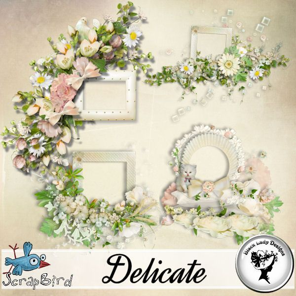 Delicate - Frames by Black Lady Designs