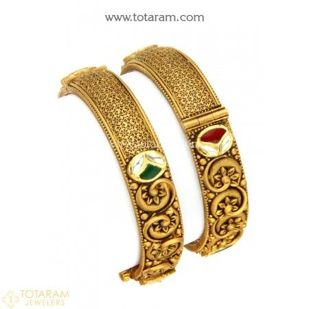 Jewelry & Watches Bridal & Wedding Party Jewelry Trustful Indian Bollywood Traditional Goldplated Kada Bracelets Bangle Jewellery 2*6 With A Long Standing Reputation