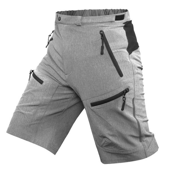Men/'s Padded Bicycle Underwear Zipper Pockets Mountain Road Bike Cycling Shorts