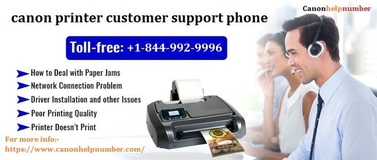 Canon printer customer support phone number printer