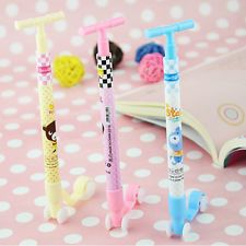 3Pcs/lot Scooter Ball Pen Novelty Kids Toys School Gift Cute Cartoon Stationery