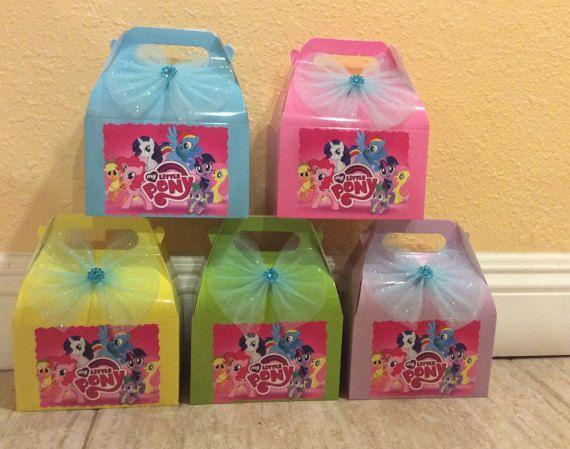 Mi cumpleaños de Pony poco partido caja a Candy Box-Favor