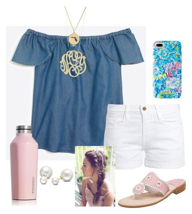 """""""hello florida!"""" by lauren-ka on Polyvore featuring J.Crew, Ginette NY, Kate Spade, Frame, Lilly Pulitzer, Corkcicle, Jack Rogers and Allurez"""
