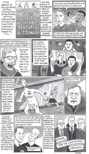 David Squires on  the fascinating weekend of football fixtures 16-17 January