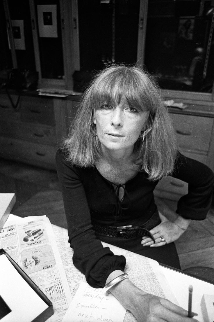 A portrait of Sonia Rykiel in 1970.