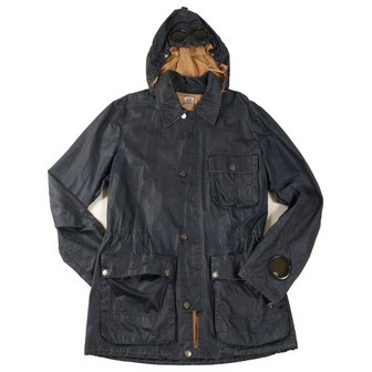 CP Company Navy Cracked Cotton Mille Miglia Jacket