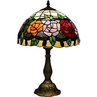 Tiffany rose bedroom bedside lamp D12067T