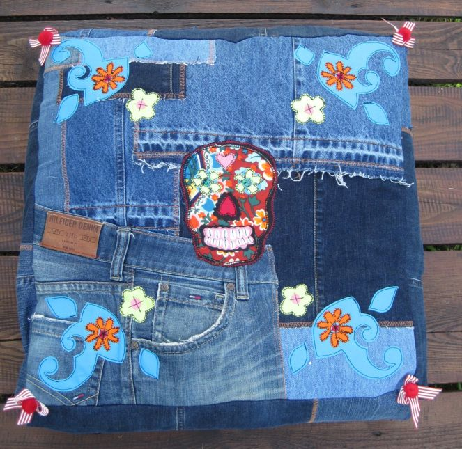 Demin Quilts Recycle Jeans