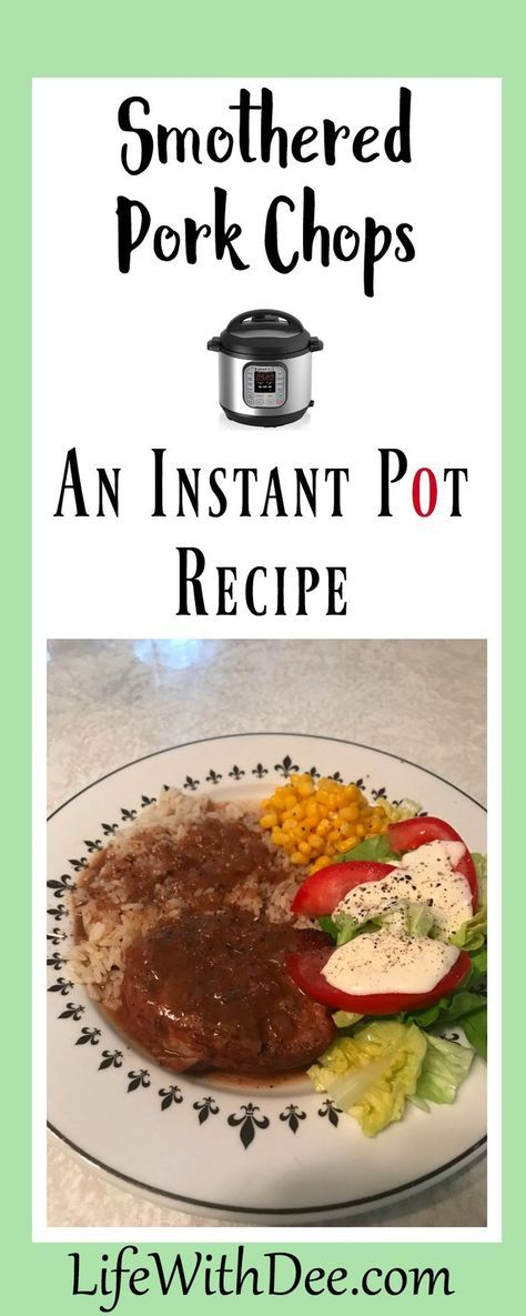 Forget to thaw the pork chops? No problem in the Instant Pot. Delicious smothered pork chops!