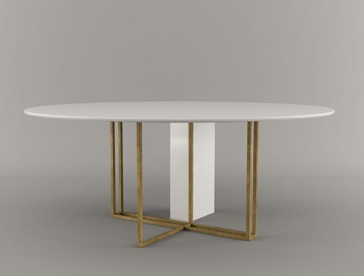 Round Dining Table PLINTO | Round Table   Meridiani