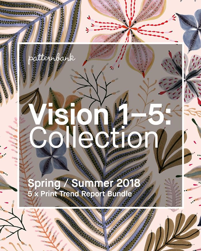 Vision 1–5: Collection – Spring/Summer 2018 – 5 x Print Trend Report Bundle