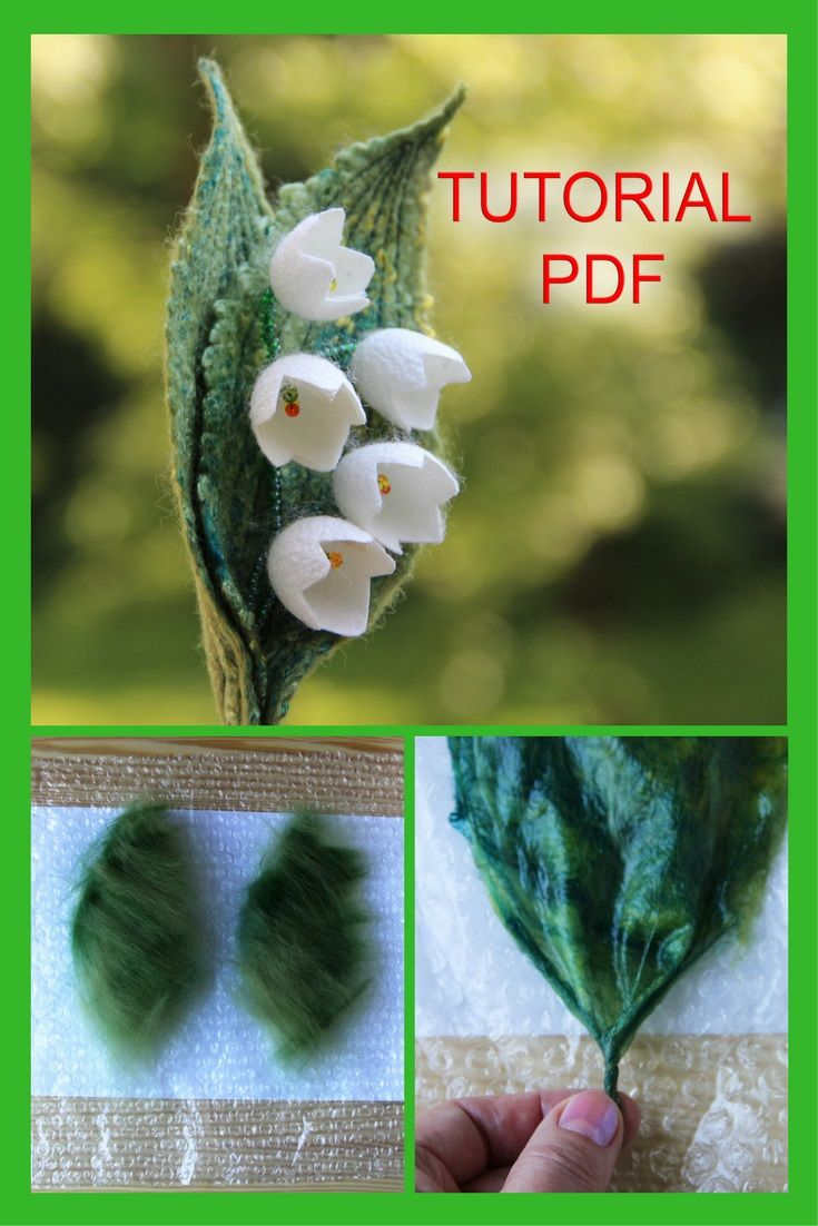 This tutorial will show you a successful way for a beginner to create a beautiful felted flower from merino wool and silk cocoons. Making felt leaves is a great way to start learning the basics of turning wool fibers into felt.   Skill Level: Suitable for a beginner or someone with some felting experience. The project should take you about 2 to 3 hours to complete. #tutorialPDF #feltbrooch #feltedflower #Learntofelt #wetfelting #pattern #feltingpdf #projects #DIY #stepbystep
