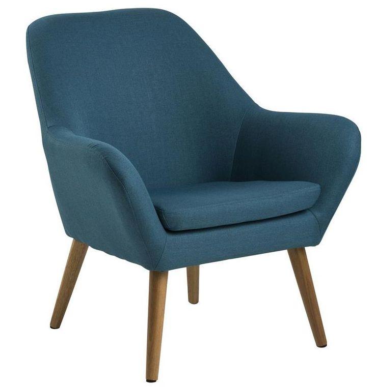 Adele fauteuil petrol - Robin Design