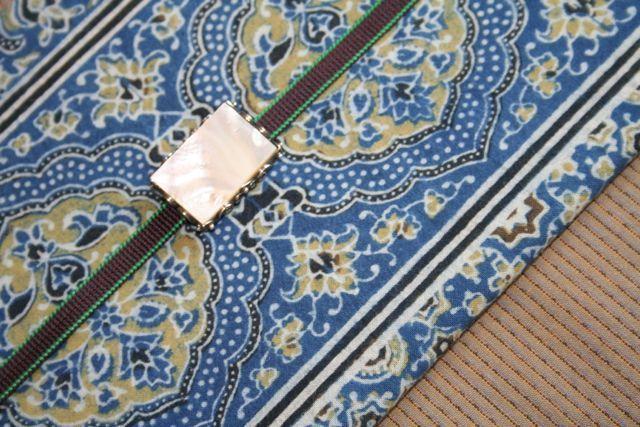 伊勢木綿とインド更紗の名古屋帯