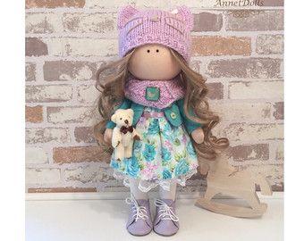 Home doll Tilda doll Art doll handmade blonde by AnnKirillartPlace