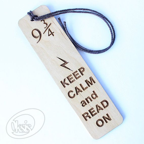 Harry Potter bookmark Keep Calm Wooden bookmark bookmark by Oksis