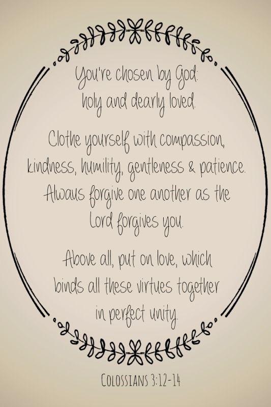 Colossians 3:12-14