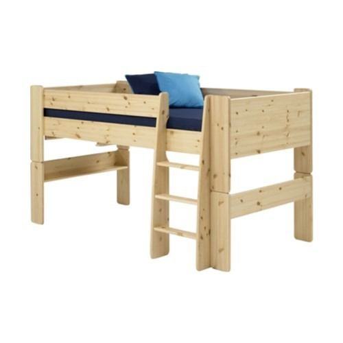 Steens For Kids Mid-Sleeper Bed Frame With Pull Out Desk In Pine - The Steen's For Kids range offers up stylish, practical pieces ideal for children's bedrooms. With a natural finish and simple, solid shapes a versatile range is created. Strong and sturdy, built to last.