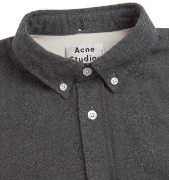 ACNE STUDIOS 'ISHERWOOD' FLANNEL SHIRT. Grey. £185.00