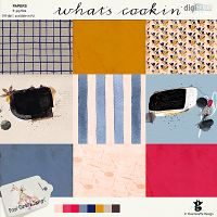 What's cookin' papers by Pixel Giraffe Designs: http://winkel.digiscrap.nl/What-s-cookin-papers/