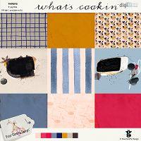 What's cookin' papers by Pixel Giraffe Designs: http://winkel.digiscrap.nl/What-s-cookin-papers/