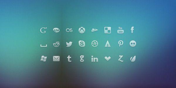 Glyph Social Network Icons - WebUIkits
