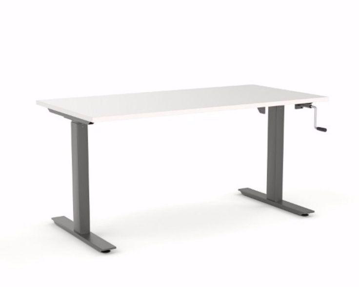 OLG Agile Height Adjustable Single Sided Winder Desk 705-1185mm Black – Dunn Furniture