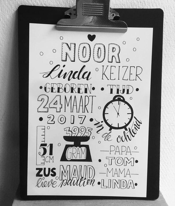Mooie geboortekaart mogen maken!!! Leuk om te geven, en te krijgen!!! Dankjewel @willekesinne en Jeroen #geboortekaarten #paperfuel #lentekriebels #dutchlettering #marjan_letterd#micron #babygeluk #babygelukmoetjedelen#lettersafari