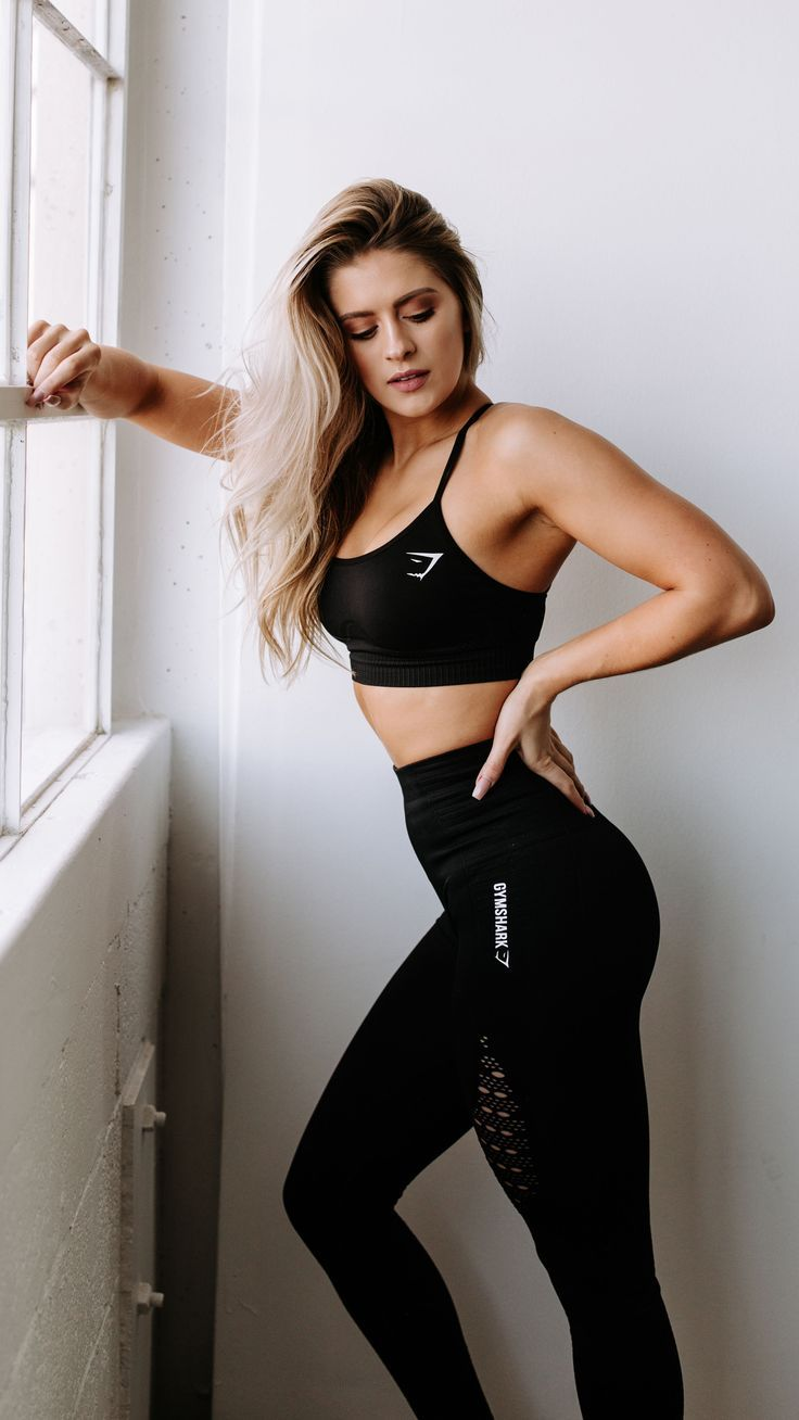 da10c85f23d738 Gymshark athlete, Whitney Simmons styles the Energy Seamless High Waisted  Leggings and Sports Bra in black, launching 3pm GMT on 1st January.