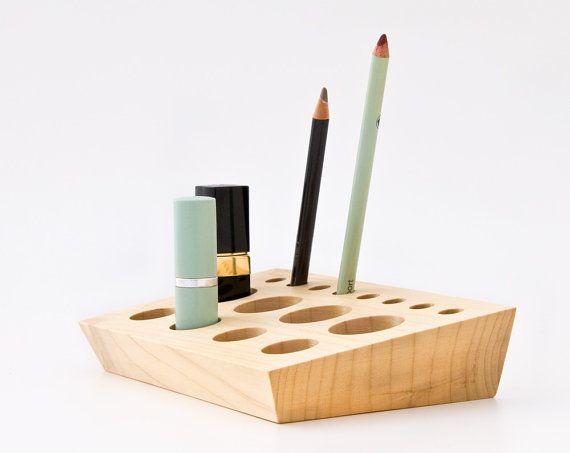 Best Wooden Makeup Organizer Ideas On Pinterest Diy Makeup - Cosmetic makeup organizer wood countertop organizer by lessandmore
