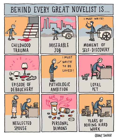 INCIDENTAL COMICS: Behind Every Great Novelist - LOVE!!