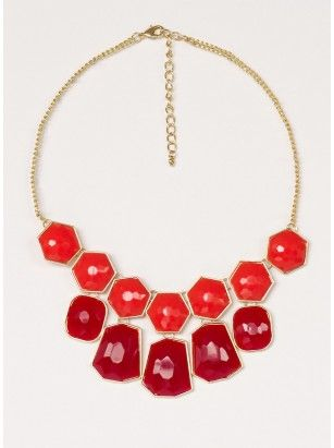 Adeline Necklace in Coral